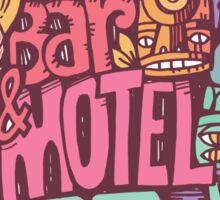 tiki motel Sticker