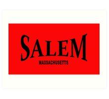 Salem Massachusetts - black  Art Print