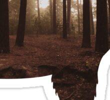 Bear & Forest Silhouette . Sticker