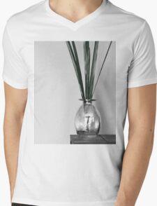 B&W vase with greenery Mens V-Neck T-Shirt