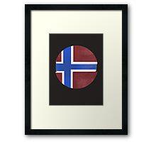 Norway ball flag Framed Print