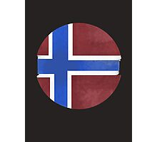 Norway ball flag Photographic Print