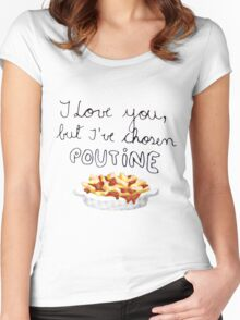 Poutine Love Women's Fitted Scoop T-Shirt