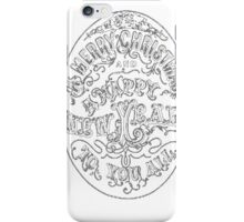 Mintage Happy New Year Postcard Mens Scoop Neck T-Shirt iPhone Case/Skin