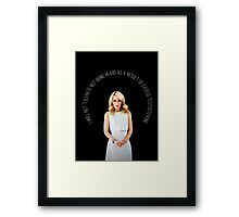 Gillian Anderson Quote Framed Print