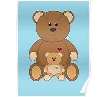 TWO TEDDY BEARS #2 Poster