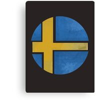 Sweden ball flag Canvas Print