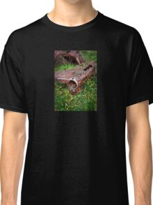 Rusted car fender laying in junk yard Classic T-Shirt