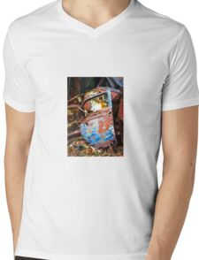 Rusted old car door abandoned in scrap yard Mens V-Neck T-Shirt
