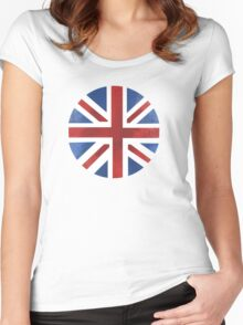 UK ball flag Women's Fitted Scoop T-Shirt