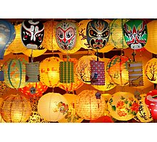 Chinese Lanterns on Display Photographic Print
