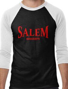 Salem Massachusetts - red Men's Baseball ¾ T-Shirt