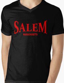 Salem Massachusetts - red Mens V-Neck T-Shirt