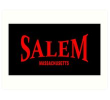 Salem Massachusetts - red Art Print