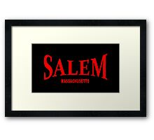 Salem Massachusetts - red Framed Print