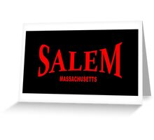Salem Massachusetts - red Greeting Card