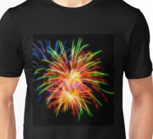 Abstract Colorful Fireworks Unisex T-Shirt