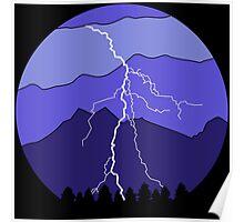 Landscape Lightning Poster