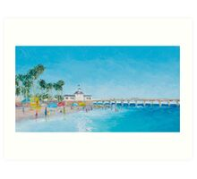 Newport Beach and Balboa Pier Art Print