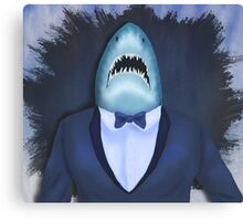 Shark Tux Canvas Print