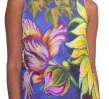 """Fresh Flowers"" Contrast Tank"