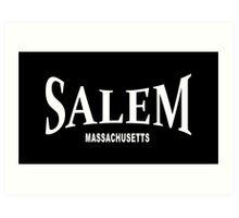 Salem Massachusetts - white Art Print
