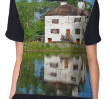 Philipsburg Manor Mirror Image In Pocantico River | Sleepy Hollow, New York Chiffon Top