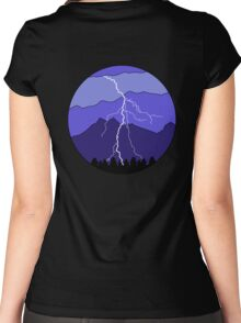 Landscape Lightning Women's Fitted Scoop T-Shirt