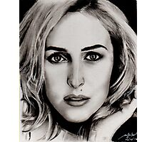 Gillian Anderson Oil Photographic Print