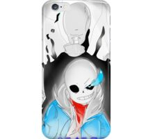 sans and gaster  iPhone Case/Skin
