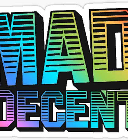 MAD DECENT Sticker Sticker