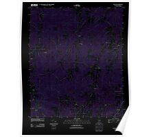 USGS TOPO Map Alabama AL Dexter 20111013 TM Inverted Poster