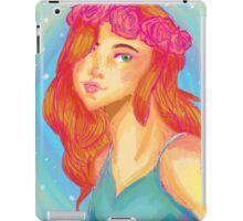 Flower crown girl iPad Case/Skin