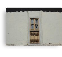 Old Window in a Wall Canvas Print