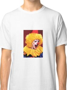 Head shot of yellow haired Clown smiling Classic T-Shirt