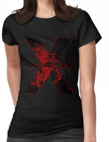 Wolverine •Weapon X • X-Men Comics Womens Fitted T-Shirt