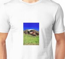 Old car resting in farmers paddock. Unisex T-Shirt