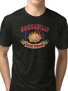 Rockabilly Beatdown (Fem Fist) Tri-blend T-Shirt