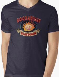 Rockabilly Beatdown (Fem Fist) Mens V-Neck T-Shirt