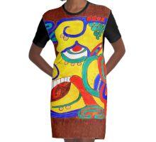 AH HULNAB Graphic T-Shirt Dress