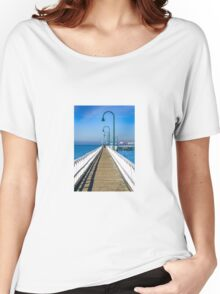 Public pier at holliday resort Women's Relaxed Fit T-Shirt