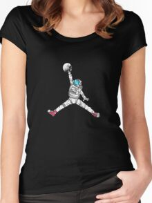 Space Dunk Women's Fitted Scoop T-Shirt