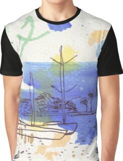 Two Kayaks on the Bay Graphic T-Shirt