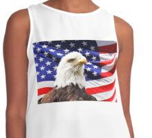 American Flag with Eagle  Contrast Tank