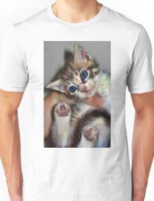 Water Droplets Kitten Unisex T-Shirt