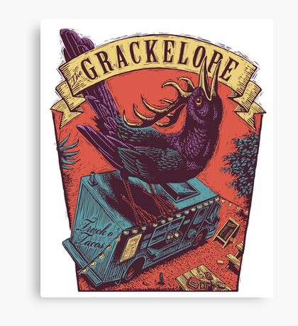 The Grackelope (color keystone) Canvas Print
