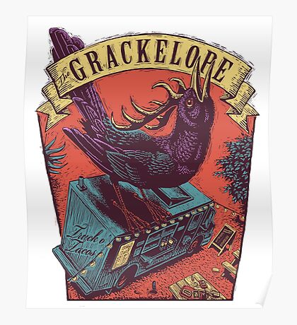 The Grackelope (color keystone) Poster