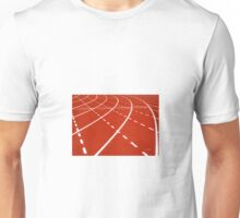 At the turn on running track Unisex T-Shirt