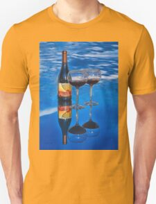 Bottle of Wine by Lena Owens T-Shirt