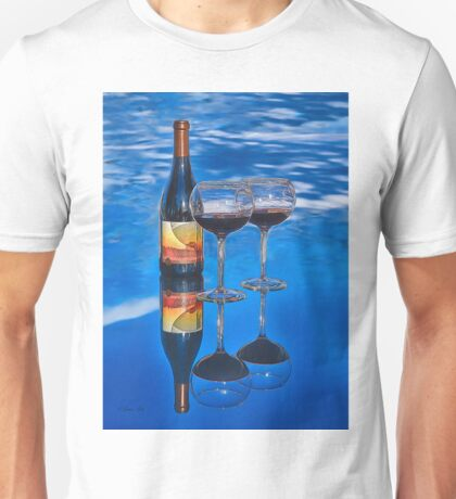 Bottle of Wine by Lena Owens Unisex T-Shirt